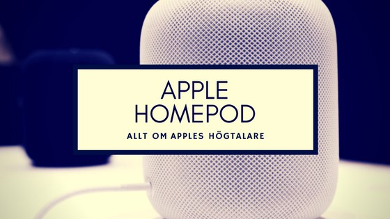 apple HomePod röstassistent - smartahogtalare.se