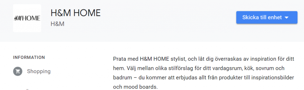h&m home google assistent action - smartahogtalare.se