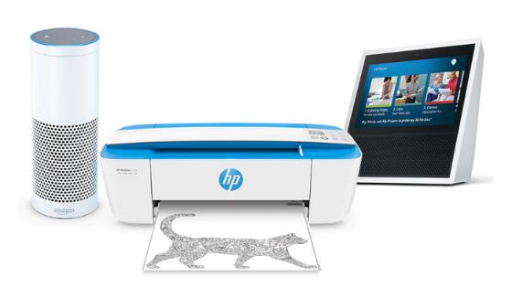 HP Alexa Skill för kontoret